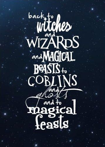 its all that i love and all that i need at Hogwarts.