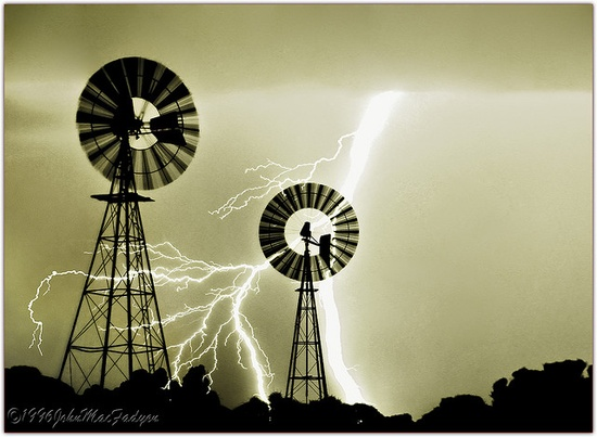 Lightning Strikes Windmills
