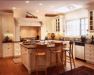Traditional Kitchen With Cabinets and Oak Floors - Interior Design Ideas, Style, Homes, Rooms, Furniture & Architecture