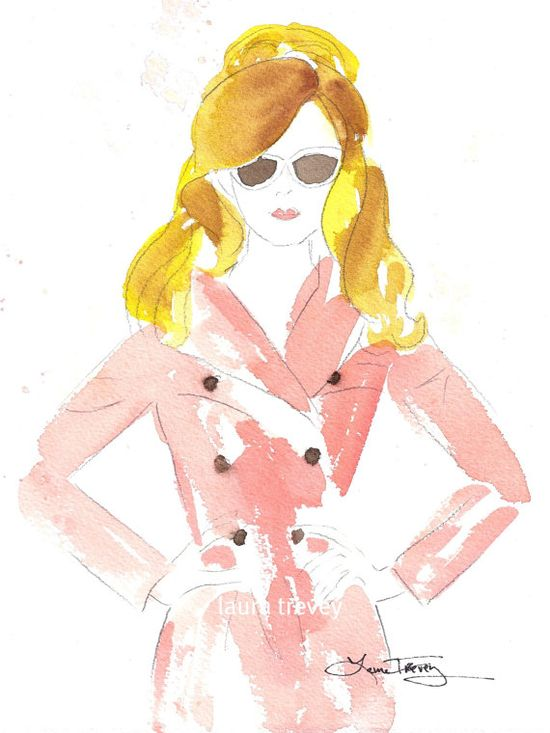 fashion illustration print  I am addicted to fashion illustrations.  I use one in every Polyvore set I make!!!