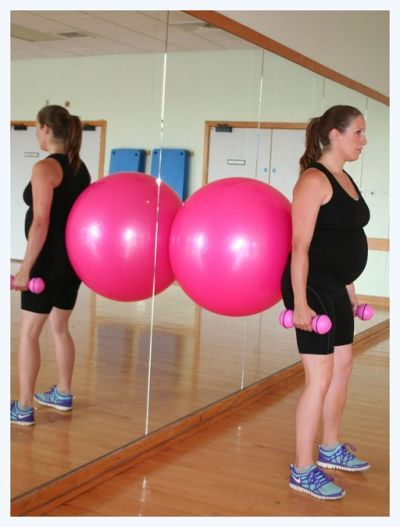 Pregnancy workout exercise ball