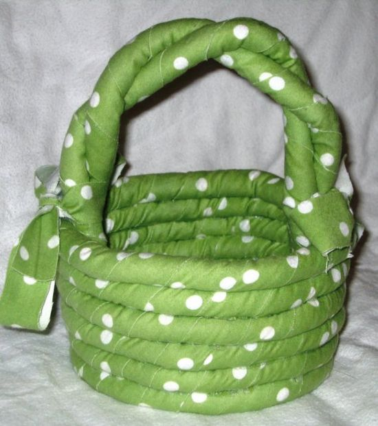 Coiled Rag Basket Decoration   Lime Green by HandmadeByAnnabelle, $18.00