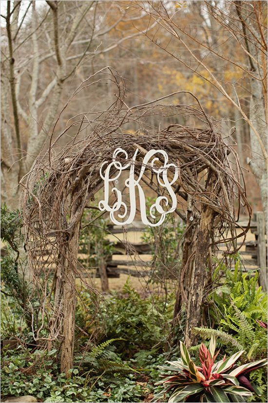Aisle Style - Rustic Wooden Arch Aisle Decor Inspiration