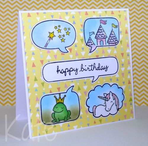 Lawn Fawn - Critters Ever After, A Birdie Told Me, Sophie's Sentiments, Daphne's Closet paper _ Happy Birthday ...make a wish