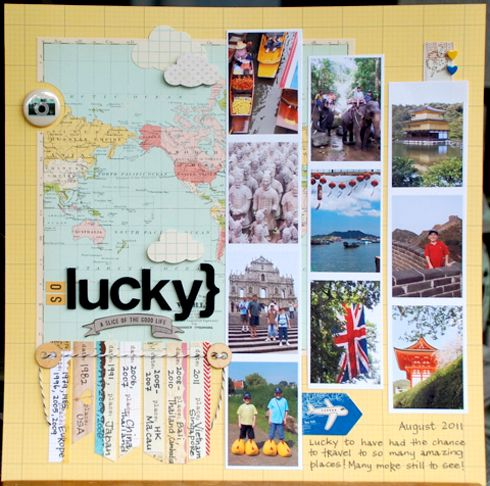 scrapbook layout travel