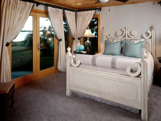 Love the bed!!!Transitional Bedrooms in  from HGTV