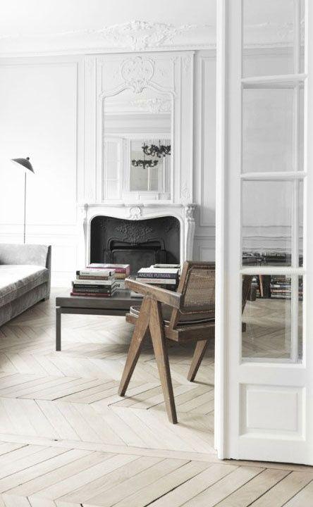 = herringbone wood flooring and
