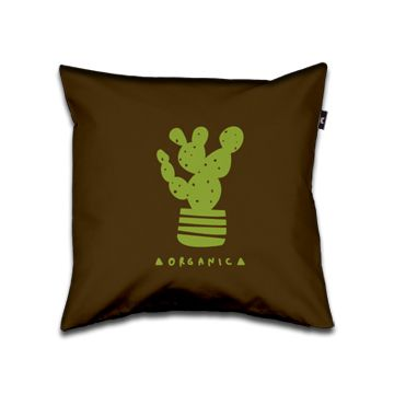 Organic Pillow 40x40 brown and green dettagli home design