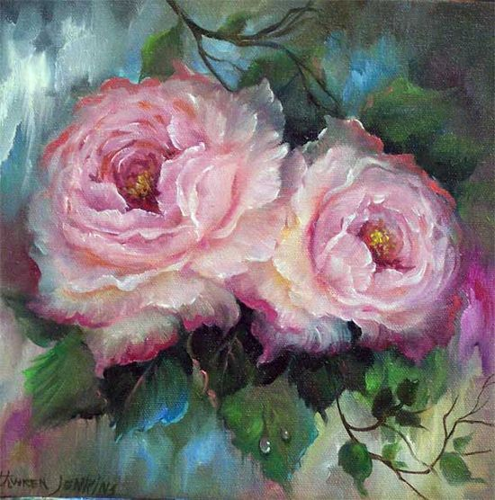 gary jenkins artist images - Gary with wife Kathwren is a high-quality painter specializing in 'roses'. He operates from his studios & manages his painting courses from Reno, Nevada.