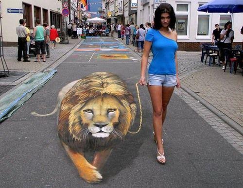 Image detail for -3d chalk 3d illusion 3d street art drawing chalk 3d sidewalk 3d ...