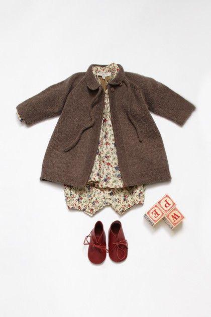 Beautiful wollen baby coat
