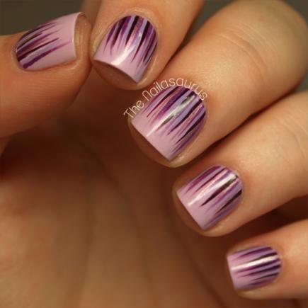 Waterfall Nail Design #divinecaroline #nailart #nails #nailpolish