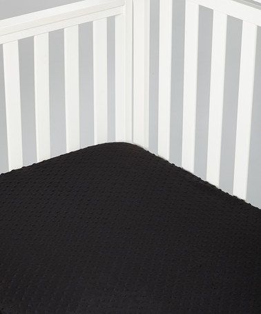 Take a look at this Black Minky Crib Sheet by Lolly Gags on #zulily today!
