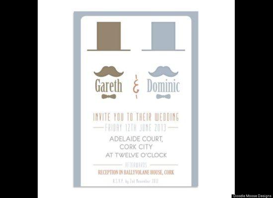 Top Hat: Same-sex wedding invitations
