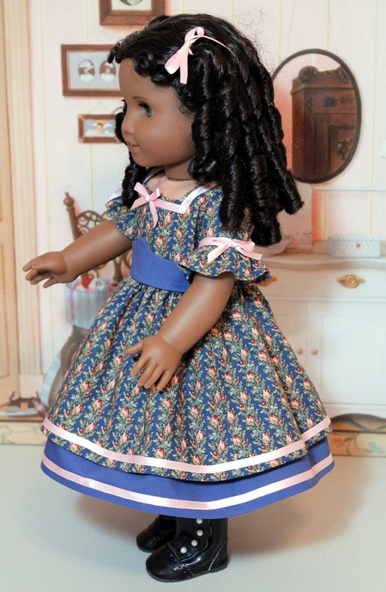 Civil War Walking Dress for American Girl doll. $45.00, via Etsy.