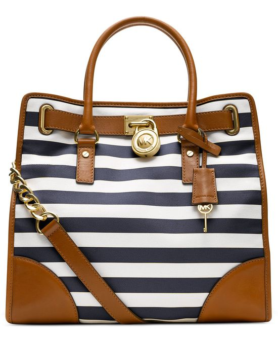 MICHAEL Michael Kors Handbag, Hamilton Large Stripe North South Tote - Handbags & Accessories - Macy's