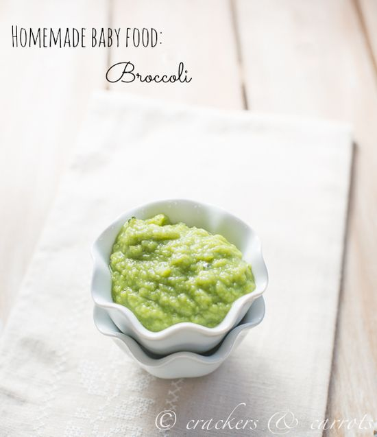 How to Make Broccoli Baby Food by chocolateandcarrots: You can put it in ice cube trays and freeze for at least 4 hours until frozen. Then, place the frozen cubes into a freezer safe storage bag, labeled to be used by 3 months after making it! #Baby_Food #Broccoli