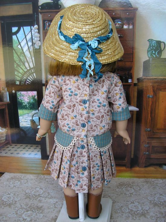 American Girl doll clothing  early 1900s teal 4 piece by dolltimes, $142.00