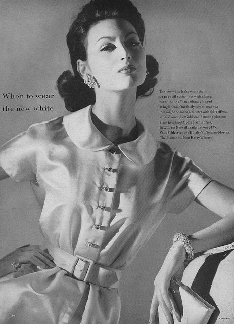 Such a sublimely elegant summertime look. #vintage #fashion #1950s #dress