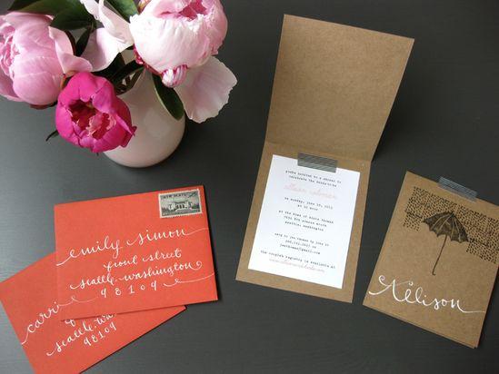 kraft paper invitations!