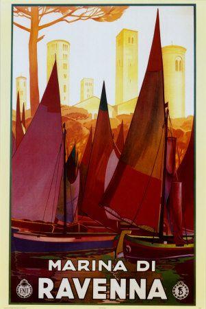 Marina Di Ravenna (Italian Riviera) #vintage #travel #poster #Italy