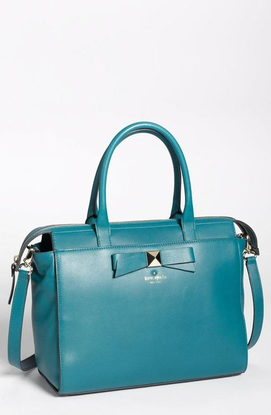 Adore this ladylike leather satchel from kate spade new york.