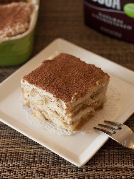 Low-Calorie Tiramisu (Made with Ricotta) by myhappydessert: 14 calories/serving #Tiramisu #Diet