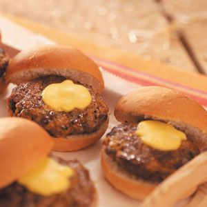 Party Time Mini Cheeseburgers Recipe from Taste of Home