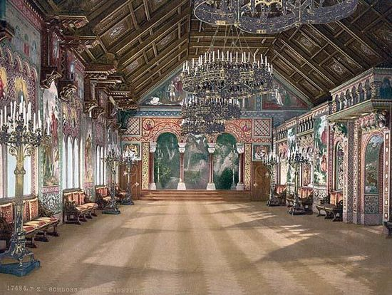 The music room in Neuschwanstein Castle.  You have to see it to believe it is this beautiful.