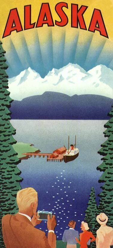 Alaska. Travel poster