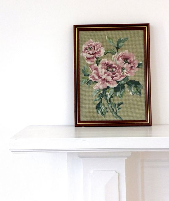 Dusky PInk Roses Tapestry  Home Decor