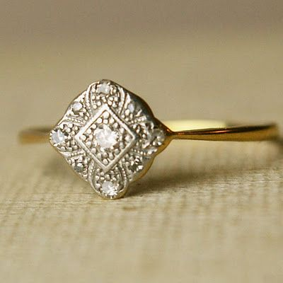 i want a vintage wedding ring