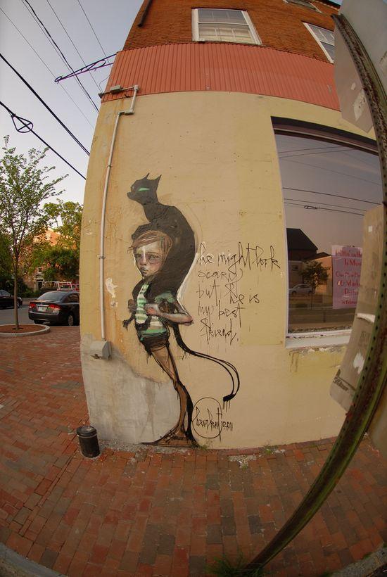 "street art, ""best friend""."