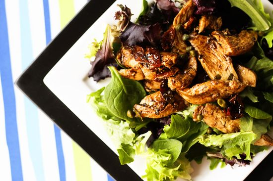 Balsamic Chicken Dinner Salad from Foodie with Family