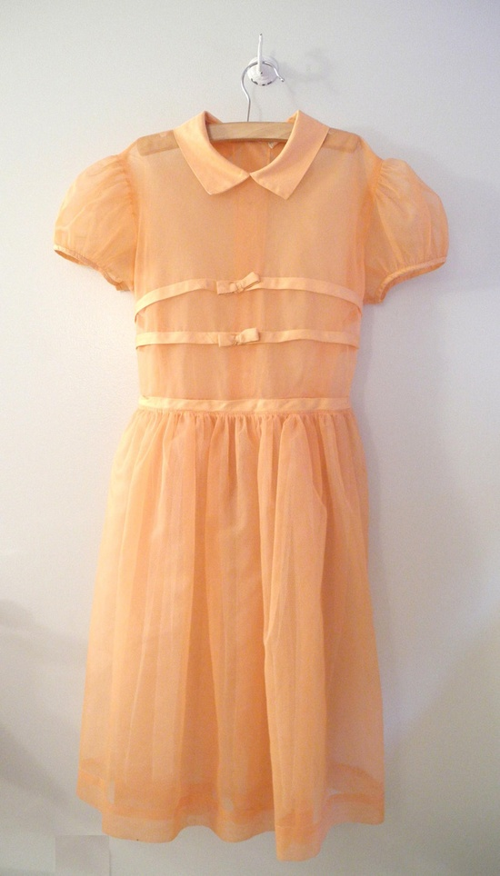 Vintage Chiffon and Satin Party Dress by Baby Tweeds