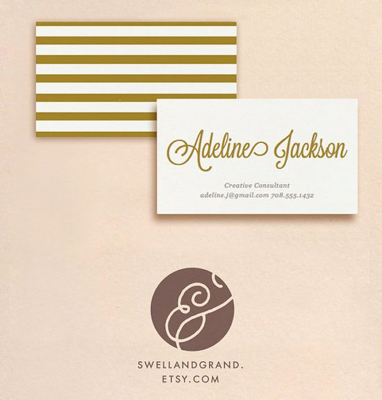 DIY Printable Business Card by Swell & Grand