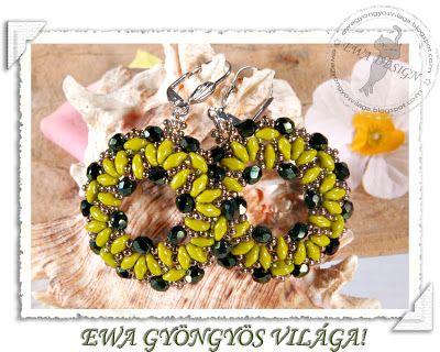 Golden Waterfall Necklace Tila Bead Free Beading Pattern