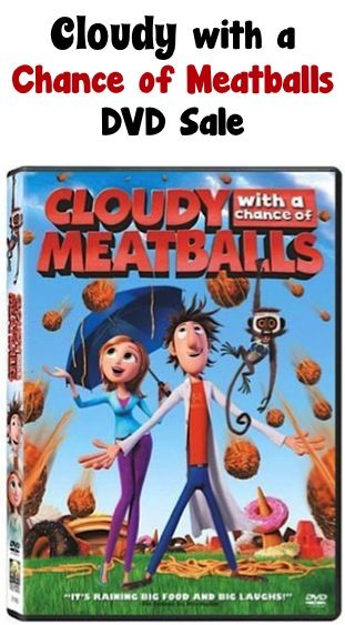 Cloudy with a Chance of Meatballs DVD Sale: $4.99!