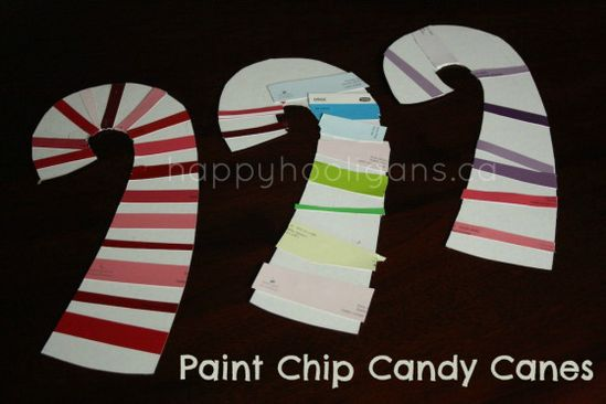 paint chip candy canes (happy hooligans)