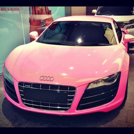 Pretty Pink Audi R8