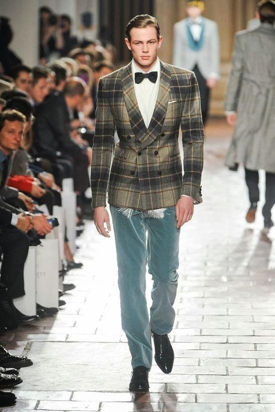 "tartan.  formalwear.  - today on the adventures of tartanscot™: ""Sunday Runway - Hackett Fall 2013 . . . """