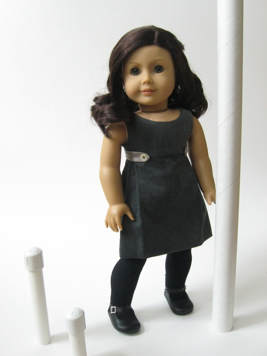"Urban Chic -- a new dress for 18"" dolls from Melody Valerie Couture"
