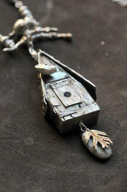 Birdhouse Necklace