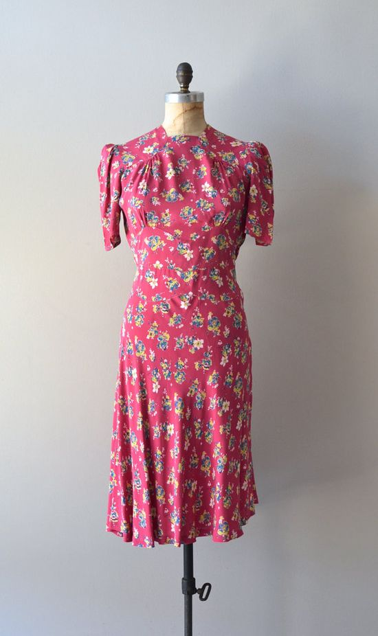 vintage 1930s Pretty How Town dress