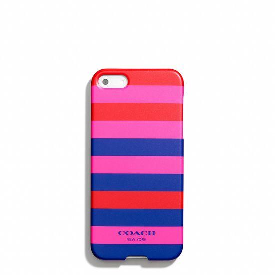 The Coach iPhone 5 Case in Multicolor Stripe