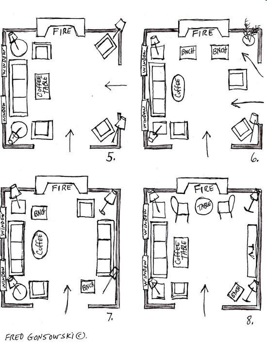 Furniture Arranging in Living Room/ Fred Gonsowski