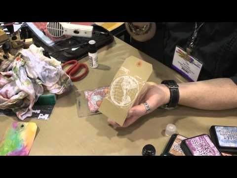 Tim Holtz Full Demo of Distress Paint and Rock Candy Dry Glitter at CHA 2013
