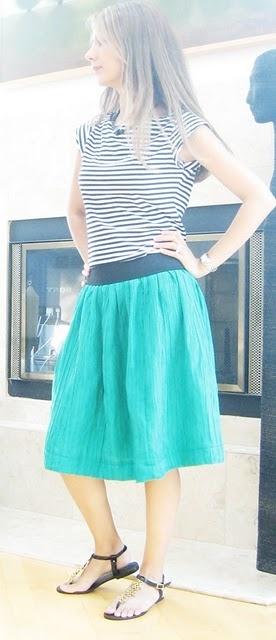 DIY Skirt...elastic and fabric? Hmmm...