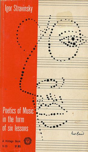 Poetics of Music in the Form of Six Lessons cover by Paul Rand