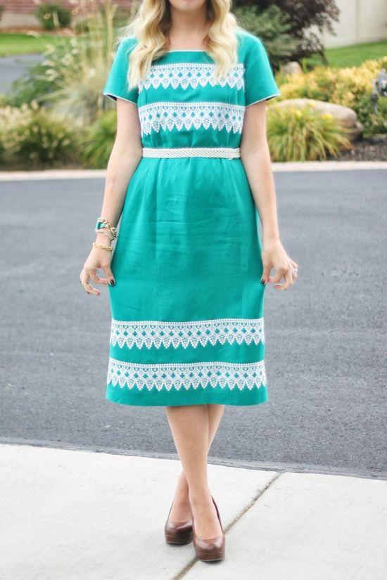DIY: no-sew lace dress